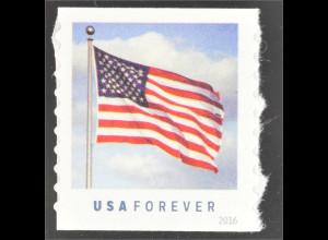 Amerika USA 2016 Michel Nr. 5228 BG Freimarke Flagge aus Rolle Coil