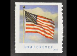 USA Vereinigte Staaten 2016 Michel Nr. 5228 BC Freimarke Flagge aus Rolle Coil