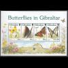 Gibraltar 1997 Block 28 Schmetterling Aurorafalter Distelfalter Segelfalter