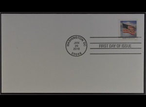 USA Amerika 2016 FDC zu Michel Nr. 5228 BE Freimarke Flagge aus Booklet