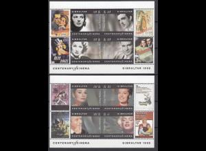 Gibraltar 1995 Block 23-24 100 J. Kino-Filmschauspieler Marlene Dietrich