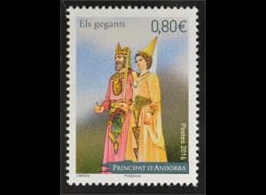 Andorra französisch 2016 Michel Nr. 805 Riesenfiguren Königspaar Giants