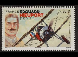Frankreich France 2016 Michel Nr. 6480 Edouard Nieuport Flugpionier Doppeldecker