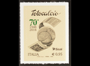 Italien Italy 2016 Michel Nr. 3905 70 Jahre Fußballlotterie Totocalcio Spiel