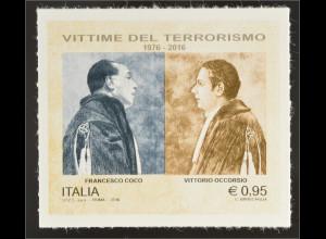 Italien Italy 2016 Michel Nr. 3910 Gemeinsinn 40. Todestag von Coco und Occorsio