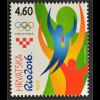 Kroatien Croatia 2016 Nr. 1238 Olympiade in Rio de Janeiro Olympische Ringe