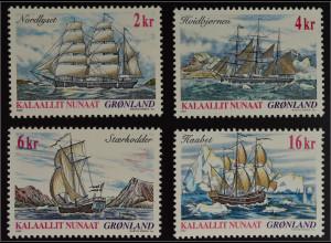 Grönland Greenland 2002 Michel Nr. 381-84 Grönländische Schifffahrt