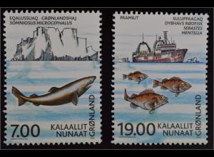 Grönland Greenland 2002 Michel Nr. 387-88 100 Jahre Rat für Meeresforschung