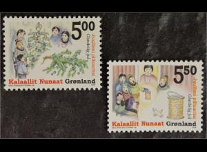 Grönland Greenland 2004 Michel Nr. 427-28 Weihnachten Christmas Natale Familie
