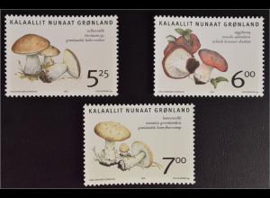 Grönland Greenland 2005 Nr. 431-33 Einheimische Speisepilze Birkensteinpilz