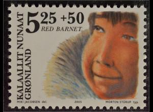 Grönland Greenland 2005 Michel Nr. 437 50 Jahre Verein Schützt die Kinder Eskimo