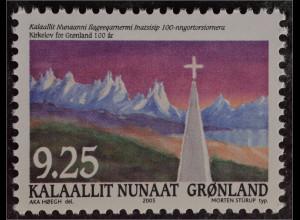 Grönland Greenland 2005 Michel Nr. 438 100 Jahre grönländisches Kirchengesetz