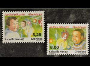 Grönland Greenland 2005 Michel Nr. 450-51 Weihnachten Christmas Natale