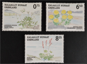 Grönland Greenland 2005 Michel Nr. 454-56 Einheimische eßbare Pflanzen Fauna