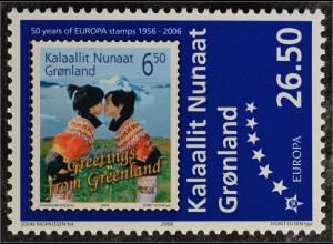 Grönland Greenland 2006 Michel Nr. 457 50 Jahre Europamarken Jubiläum