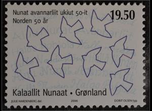 Grönland Greenland 2006 Michel Nr. 459 50 Jahre NORDEN Briefmarken