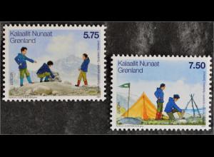 Grönland Greenland 2007 Michel Nr. 480-81 Europa Pfadfinder