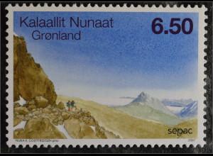 Grönland Greenland 2007 Michel Nr. 492 SEPAC Landschaften Berge Natur