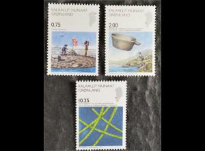 Grönland Greenland 2007 Michel Nr. 493-95 Wissenschaft Entdeckung Tobias Inseln