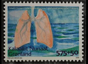 Grönland 2008 Michel Nr. 511 Tuberkulosebekämpfung Lungengesundheit