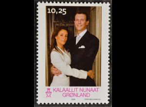 Grönland 2008 Michel Nr. 515 Hochzeit Prinz Joachim Marie Cavallier