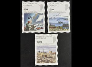 Grönland 2008 Nr. 516-18 Wissenschaft Internationales Polarjahr