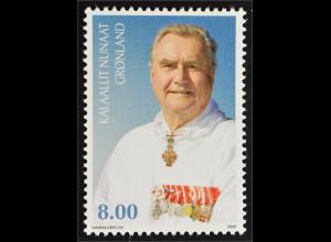 Grönland 2009 Michel Nr. 534 75. Geburtstag von Prinz Henrik Adel