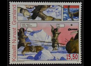 Grönland Greenland 2009 Michel Nr. 536 Grönländische Comics Godtfredsen Graphik