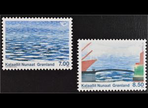 Grönland Greenland 2010 Michel Nr. 561-62 NORDEN Leben am Meer Gemälde Høegh