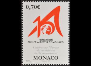Monako Monaco 2016 Nr. 3304 10 Jahre Fürst Albert II. Stiftung Foundation Albert