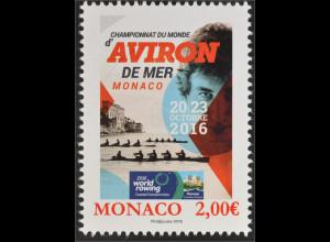 Monako Monaco 2016 Michel Nr. 3310 Weltmeisterschaften im Küstenrudern Sport