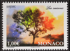 Monako Monaco 2016 Michel Nr. 3302 SEPAC Jahreszeiten European Cooperation