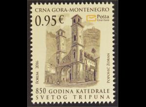 Montenegro 2016 Nr. 392 850 Jahre Kathedrale St.Tripuna Kirche Religion