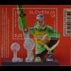 Slowenien Slovenia 2016 Block 87 Olympiasieger und Weltmeister Peter Prevc