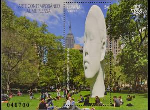 Spanien Spain España 2016 Block 280 Zeitgenössische Kunst Skulptur Jaume Plensa