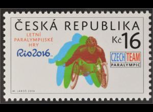 Tschechische Republik 2016 Nr. 890 Paralympische Sommerspiele Rio de Janeiro