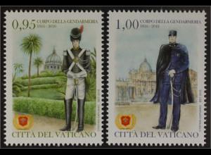 Vatikan Cittá del Vaticano 2016 Michel Nr.1871-72 200 Jahre Gendarmeriekorps