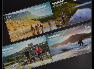 Irland Èire 2016 Nr. 2191-94 Wilder Atlantikweg Natur Angeln Surfen Radfahren