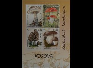 Kosovo 2016 Block 38 Pilze Flora Fliegenpilz Marone Steinpilz Mykologie Natur