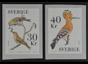 Schweden Sverige 2016 Nr. 3132-33 Vögel Birkenzeisig Wiedehopf Ornithologie