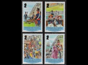 Tristan da Cunha 2016 Nr. 1241-44 Garrison Besiedlung und Geschichte des Landes