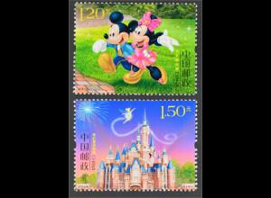 VR China 2016 Nr. 4797-98 Eröffnung Disneyland Shanghai Walt Disney Micky