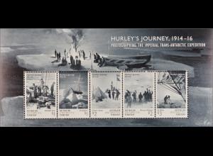 Australische Antarktis AAT 2016 Block 18 Frank Hurley Hurley´s Journey 1914-16