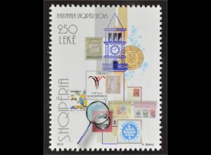 Albanien 2016 Michel Nr. 3526 Internationale Briefmarkenausstellung BALKANFILA