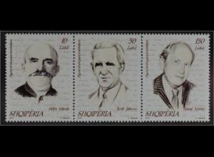 Albanien 2016 Michel Nr. 3527-29 Berühmte Persönlichkeiten Ndre Mjeda Jakova