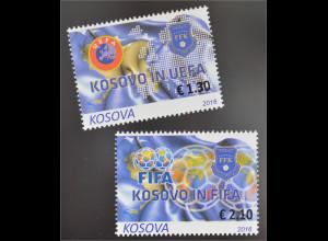 Kosovo 2016 Nr. 351-52 Kosovo in FIFA und UEFA Fußball Sport