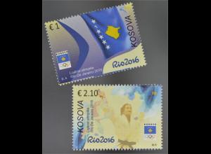 Kosovo 2016 Nr. 346-47 Olympische Spiele Rio de Janeiro Olympiade Wettkampf