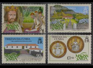 Tristan da Cunha 2015 Nr. 1202-05 Geschichte der Magna Charta Urkunde Freiheit