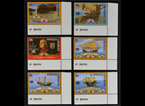 Barbuda Antigua und Barbuda 1992 Michel Nr. 1407-12 Entdeckung Amerikas Kolumbus