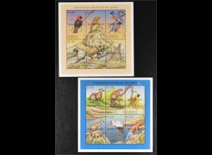 Barbuda Antigua und Barbuda 1999 Michel Nr. 2161-72 Klbg. Seltene Tiere der Welt